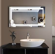 48 bathroom mirror amazon com lighted bathroom mirror 48 x 28 in beauty