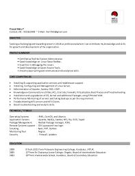 B Tech Fresher Resume Linux Fresher Resume