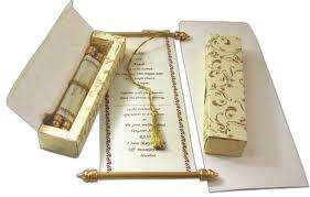 indian wedding scroll invitations scroll cards scroll wedding invitations