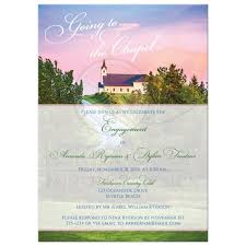 engagement party invitation going to the chapel