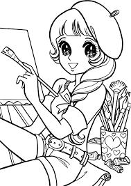 aeromachia shojo manga no memory painter coloring page