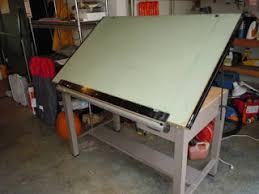Drafting Table With Parallel Bar Engineering Tools And Supplies Blueprint Storage Surveying