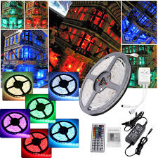rgb led strip lighting 5m smd 5050 3528 rgb 300 led strip lights plug adapter ir remote