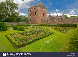 formal 17th century walled gardens with low hedges topiary roses