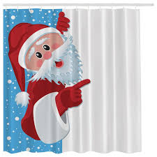 Kids Fabric Shower Curtain - holiday christmas santa claus kids digital art fabric shower