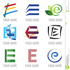 set of icons and logo elements letter e stock images image 13270464