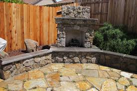 build an outdoor stacked stone fireplace hgtv rumford gallery