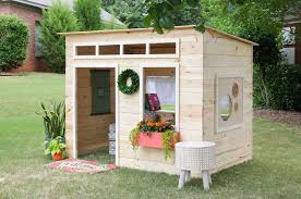 Wooden Backyard Playhouse The House Of Wood The Diy Life Of A Military Wife