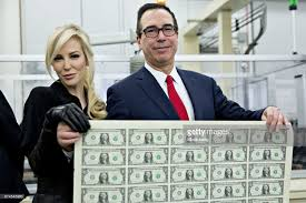 bureau louise treasury mnuchin views production of currency bearing his