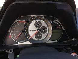 lexus is300 key my speedometer is not working after decal installation added more