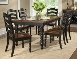 Elegant Wood Dining Room Table Sets Solid Wood Dining Table Uk - Black dining table with wood top