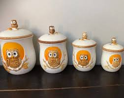 owl kitchen canisters owl canisters for the kitchen 100 images the goodwill gal