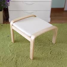 Wood Ottoman Comfortable Wooden Stool Ottoman Footstool With Cushion Living