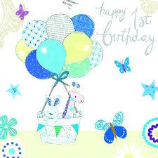 boys u0027happy 1st birthday u0027 greetings card by hammond u0026 gower