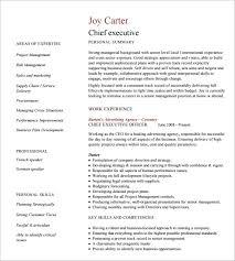 executive resume formats jospar
