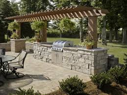 outdoor kitchen backsplash ideas outdoor kitchen design and decoration grey