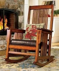 Mission Style Rocking Chair Wooden Indoor Rocking Chairs Foter
