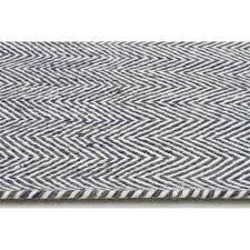 herringbone chevron scandinavian floor rug navy blue