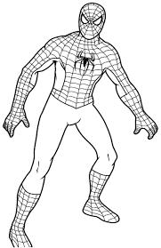 crafty design ideas spiderman color page printable superheroes