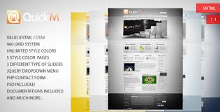 quickm html template by woo doo themeforest