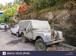 classic land rover old unused classic land rover series ii car lying partially
