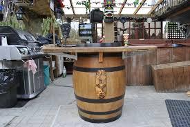Wine Barrel Bar Table Oak Table Plans Images Mission Style Living Room Furniture Family