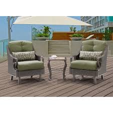Deep Seating Patio Furniture Sets - ventura 3 piece chat set in vintage meadow ventura3pc mdw