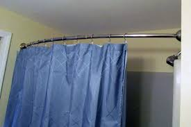 Curved Tension Shower Curtain Rods Easy Shower Curtain Rod Ideas