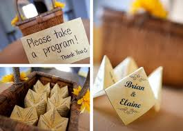 basket for wedding programs adventures in wedding planning get with the program