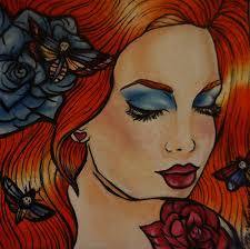 Tattoo Home Decor Tattoo Art Rockabilly Lowbrow Pin Up Home Decor Canvas Print