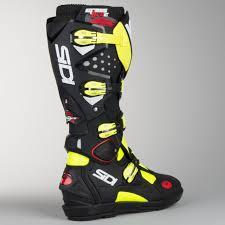 italian motocross boots sidi crossfire 2 srs motocross boots yellow fluorescent black now
