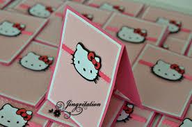 Hello Kitty Birthday Invitation Card Hello Kitty Birthday Party Baby Shower Invitations Jingvitations