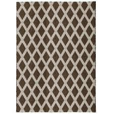 Home Depot Area Carpets Hampton Bay Diamond Natural 5 Ft 3 In X 7 Ft 5 In Indoor