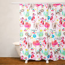 No Liner Shower Curtain Crayola Purrty Cat No Liner Shower Curtain Jcpenney