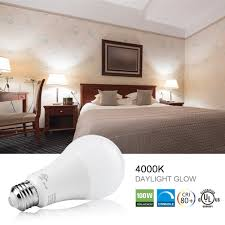 dimmable led light bulbs 15w 100w equivalent luminwiz 4000k