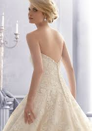 crystal beading with lace on tulle wedding dress style 2671