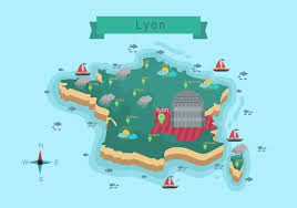 Lyon France Map Map Of Lyon City Download Free Vector Art Stock Graphics U0026 Images