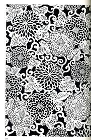 japanese pattern black and white this art piece shows pattern it is predictable about what is going
