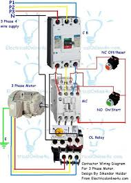 contactor wiring diagram for three phase motor cnc pinterest