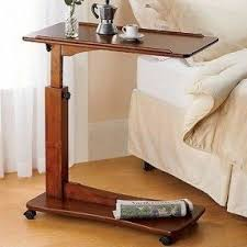 rolling tv tray table foter