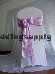 Cheap Sashes Sale Cheap Violet Satin Chair Sashes For Wedding Chair