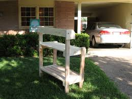 Plant Bench Plans - ana white potting bench for a friend diy projects