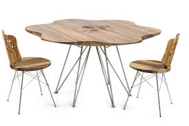 scandinavian design dining table wooden stainless steel
