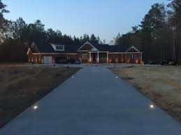 custom designed recessed driveway lighting outdoor lighting