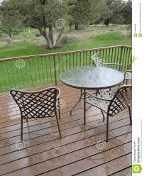 table and chairs on deck royalty free stock photo image 16300225