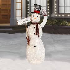 60 u201d indoor outdoor light up waving snowman christmas tree shops