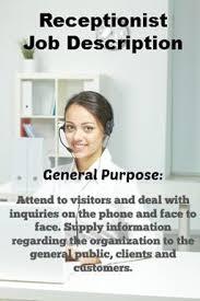 Receptionist Job Description For Resume by Best 25 Office Assistant Job Description Ideas Only On Pinterest