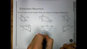 sec 7 4 special right triangles youtube