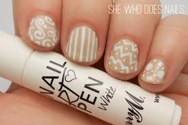 white nail art pen designs choice image nail art designs