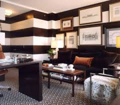 modern home office design with monochrome wall paint ideas and